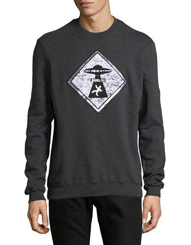 Markus Lupfer Patch Cotton Sweatshirt-GREY-Medium