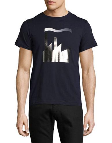 Markus Lupfer Foil Print T-Shirt-NAVY-X-Small