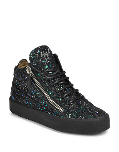 Giuseppe Zanotti Glitter Platform Sneakers-BLACK MULTI-EUR 36/US 6