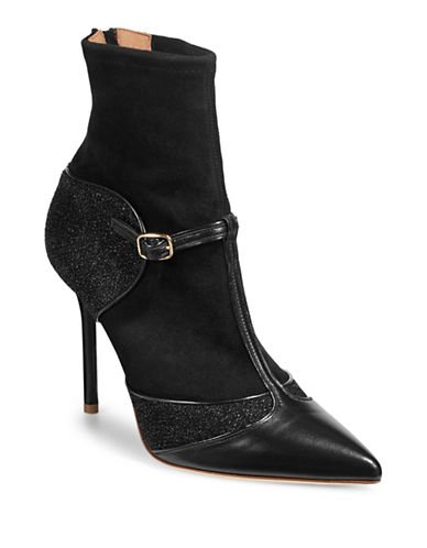 Malone Souliers Sadie Suede and Leather Booties-BLACK-EUR 38/US 8