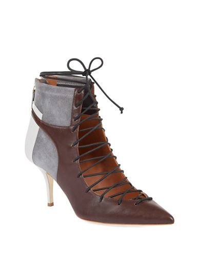 Malone Souliers Montana Suede and Leather Booties-CHOCOLATE-EUR 37/US 7