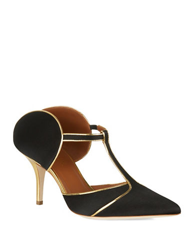 Malone Souliers Imogen Leather Mule Pumps-BLACK-EUR 35.5/US 5.5