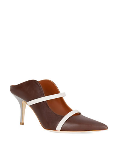 Malone Souliers Maureen Leather Mule Pumps-BROWN-EUR 37.5/US 7.5