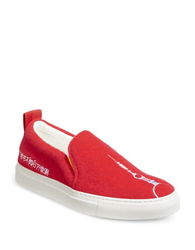 Joshua Sanders Popcorn Slip-On Sneakers-RED-EUR 38/US 8