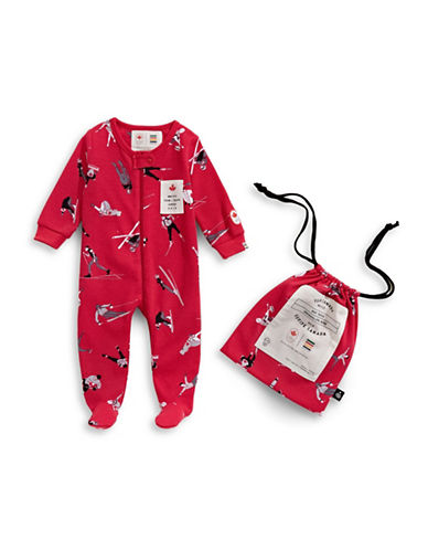 Canadian Olympic Team Collection x Drake General Store Infant Holiday Footie-RED-18-24 Months