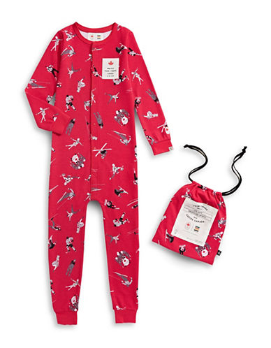 Canadian Olympic Team Collection x Drake Gerneral Store Kids Holiday Coveralls-RED-4-5