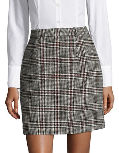 Carven Glen Plaid Mini Skirt-ASSORTED-40