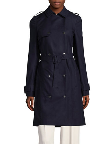 Carven Classic Trench Coat-BLUE-38