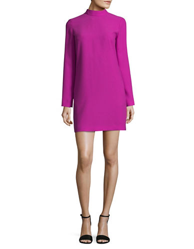 Carven Mock Neck Shift Dress-PINK-42