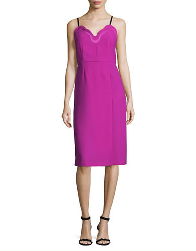 Carven Scalloped Neckline Sheath Dress-PINK-38