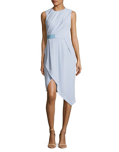 Carven Draped Bodice Sheath Dress-BLUE-40