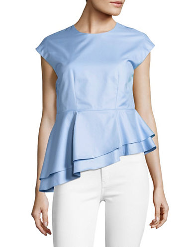 Carven Tiered Asymmetrical Top-BLUE-38