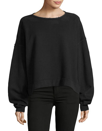 Rachel Comey Long Sleeve Cropped Sweatshirt-GREY-X-Small/Small
