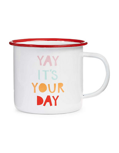 The Birdie Collection Yay Its Your Day Mug-WHITE MULTI-One Size