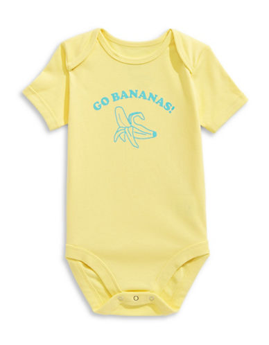 The Birdie Collection Go Bananas Cotton Bodysuit-LEMON DROP-6-12 Months
