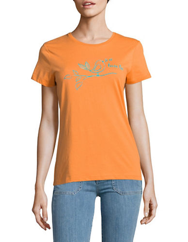 The Birdie Collection Tweetee Cotton Tee-TANGERINE-Large