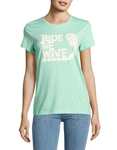 The Birdie Collection Ride the Wave Tee-YUCCA-Small