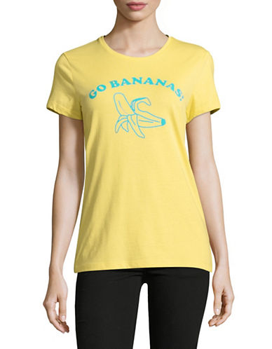 The Birdie Collection Go Bananas Cotton Tee-LEMON DROP-Small