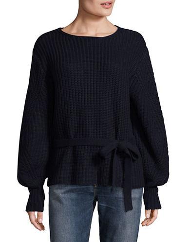 Sea Ny Tie-Waist Sweater-BLUE-Small