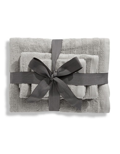 Distinctly Home Six-Piece Cotton Towel Bundle-SILVER-One Size