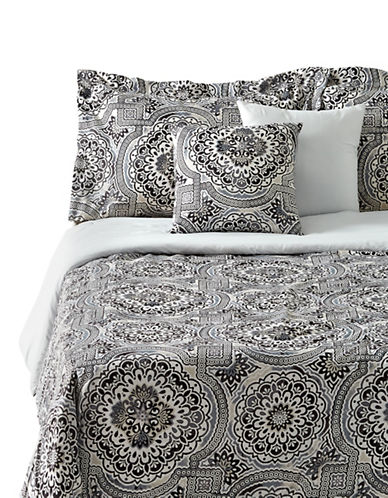 Home Studio Mosaic Five-Piece Comforter Set-BLACK-Queen
