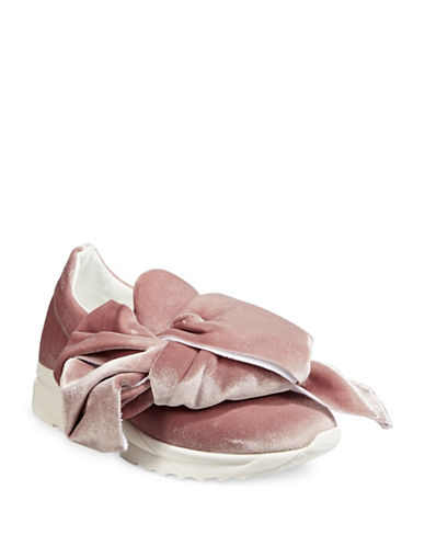 Joshua Sanders Velvet Bow Sneakers-FLAMINGO-EUR 39/US 9