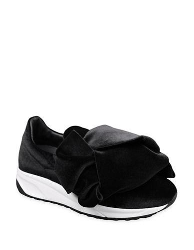Joshua Sanders Velvet Bow Sneakers-BLACK-EUR 38/US 8
