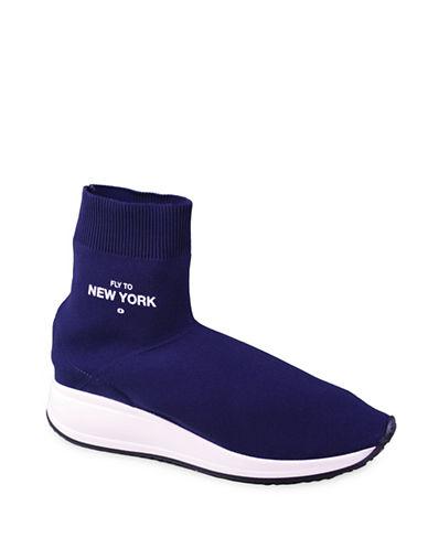 Joshua Sanders Fly To London High-Top Sock Sneakers-BLUE-EUR 37/US 7
