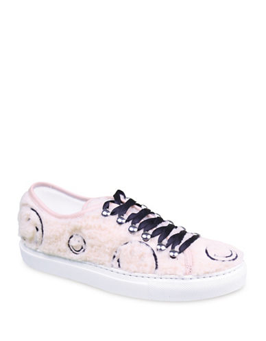 Joshua Sanders Smile Lace-Up Sneakers-IVORY-EUR 35/US 5
