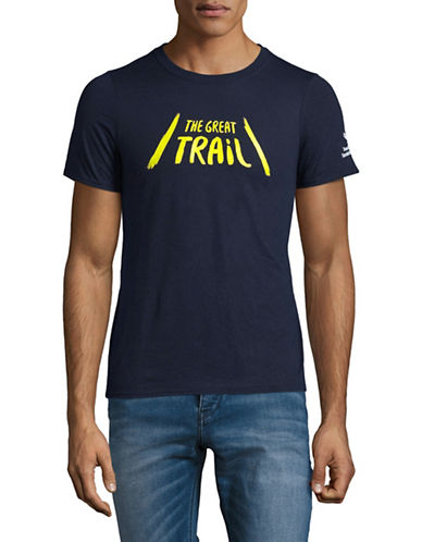 Grand Portage Mens Great Trail Cotton T-Shirt-BLUE-Medium