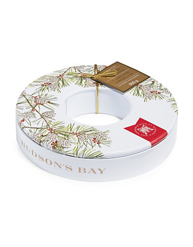 HudsonS Bay Company Chocolate Caramels Wreath Tin-NO COLOUR-One Size