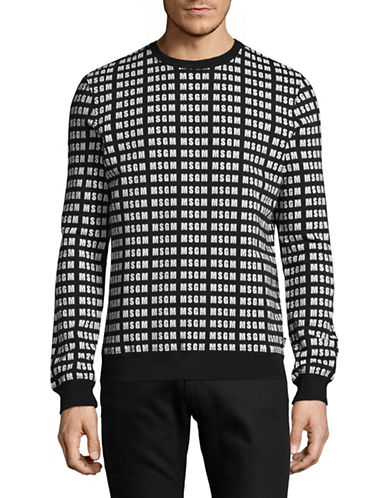 Msgm Logo Sweatshirt-BLACK-Large