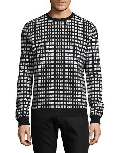 Msgm Logo Sweatshirt-BLACK-X-Small