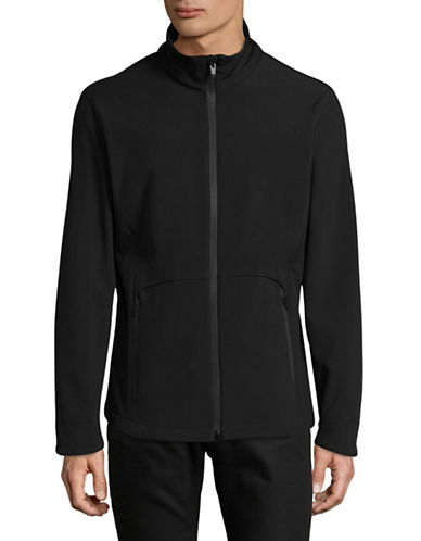 F.O.G. By London Fog Softshell Lightweight Jacket-BLACK-Small