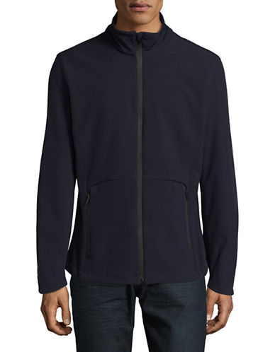 F.O.G. By London Fog Softshell Lightweight Jacket-NAVY-Medium