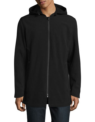 F.O.G. By London Fog Elongated Soft Shell Jacket-BLACK-Medium