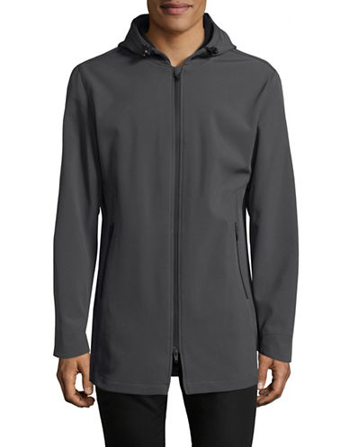 F.O.G. By London Fog Elongated Soft Shell Jacket-DARK GREY-Large