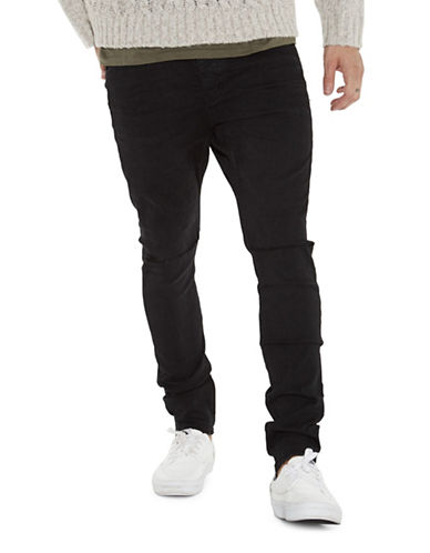 Man X One Teaspoon Mr Bones Skinny Jeans-BLACK-30