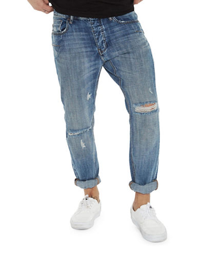 Man X One Teaspoon Mr Whites Straight-Leg Jeans-BLUE-31