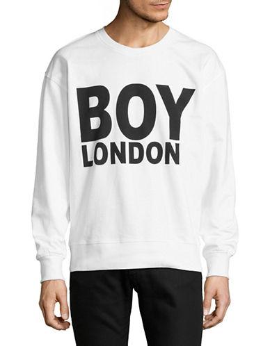 Boy London Logo-Print Sweatshirt-WHITE/BLACK-Small