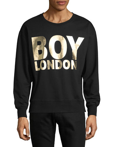 Boy London Logo-Print Sweatshirt-BLACK/GOLD-Medium