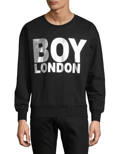 Boy London Logo-Print Sweatshirt-BLACK/SILVER-X-Small