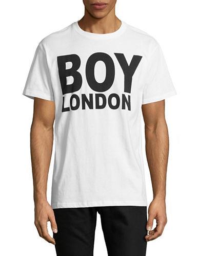 Boy London Logo-Print Tee-WHITE/BLACK-Large