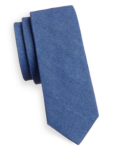 Haight And Ashbury Slim Denim Tie-BLUE-One Size