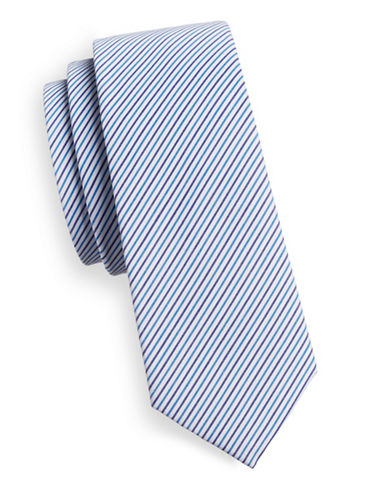 Haight And Ashbury Diagonal Stripe Tie-LIGHT BLUE-One Size