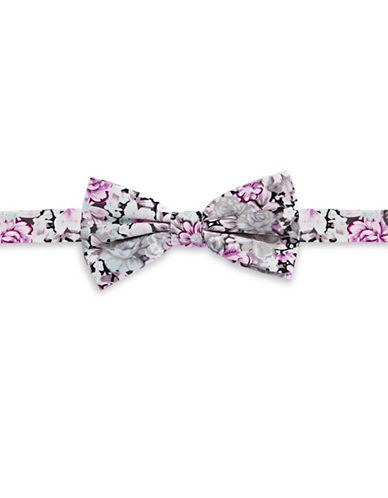 Haight And Ashbury Floral Cotton Pre-Tied Bow Tie-PINK-One Size