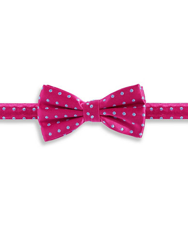 Haight And Ashbury Dotted Silk Pre-Tied Bow Tie-PINK-One Size