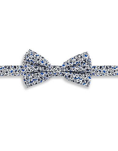 Haight And Ashbury Ditsy Floral Cotton Pre-Tied Bow Tie-BLUE-One Size