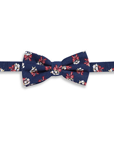 Haight And Ashbury Bouquet Cotton Pre-Tied Bow Tie-NAVY-One Size