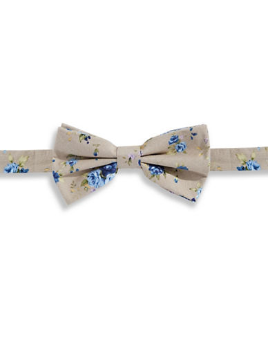 Haight And Ashbury Rose Cotton Pre-Tied Bow Tie-BLUE-One Size